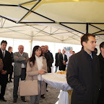 A vendégek közt polgármesterek, építészek, kivitelezők is voltak