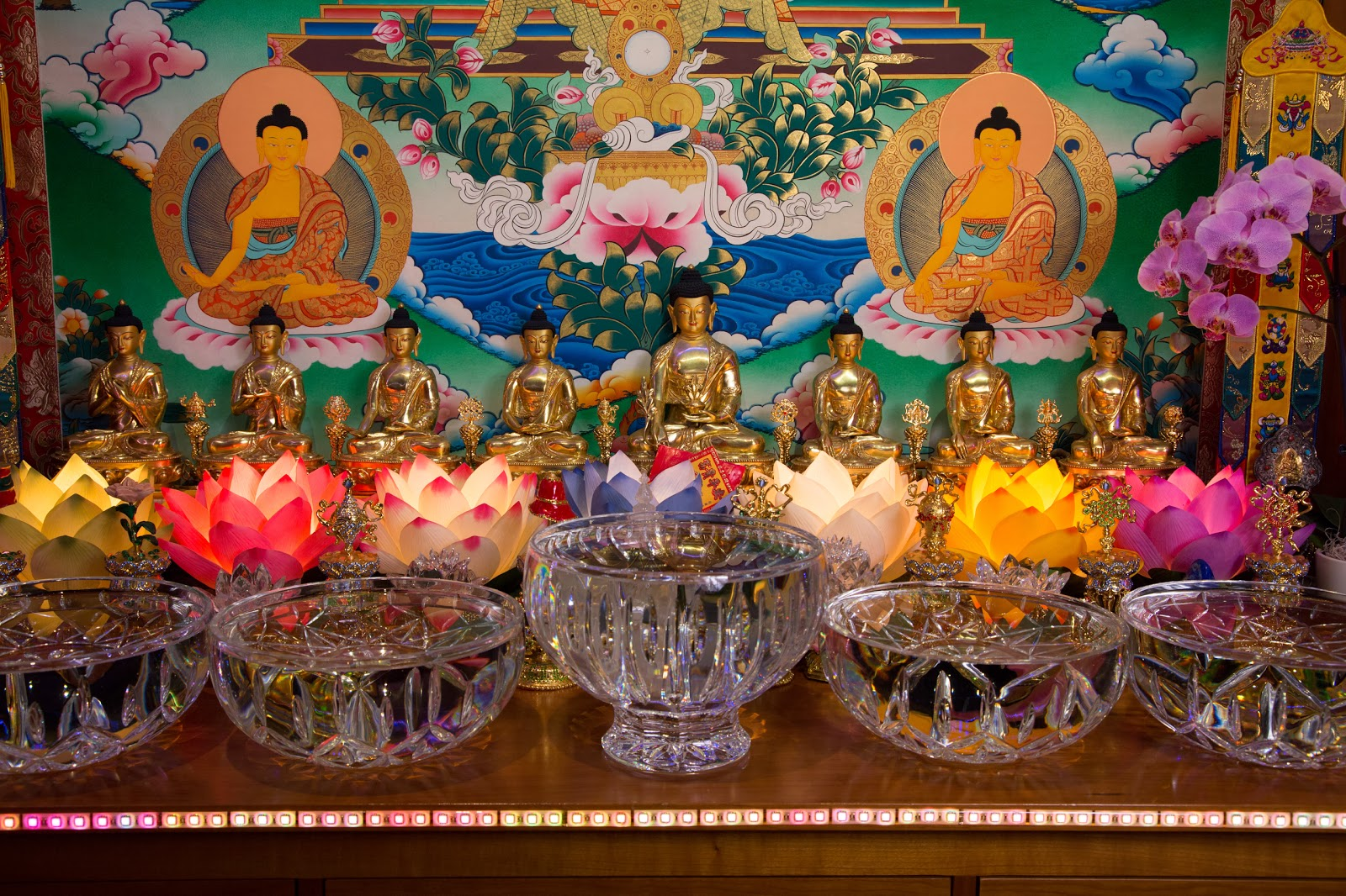 Medicine Buddha Altar. Photo by Ven. Thubten Kunsang.
