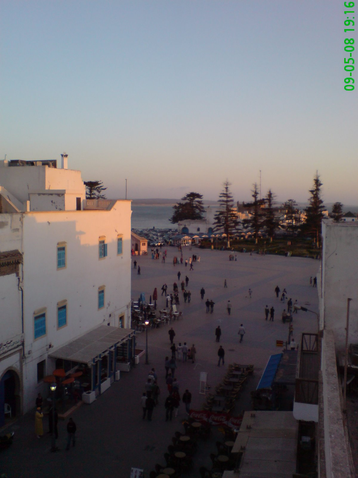 View from hotel roof in Essaouira