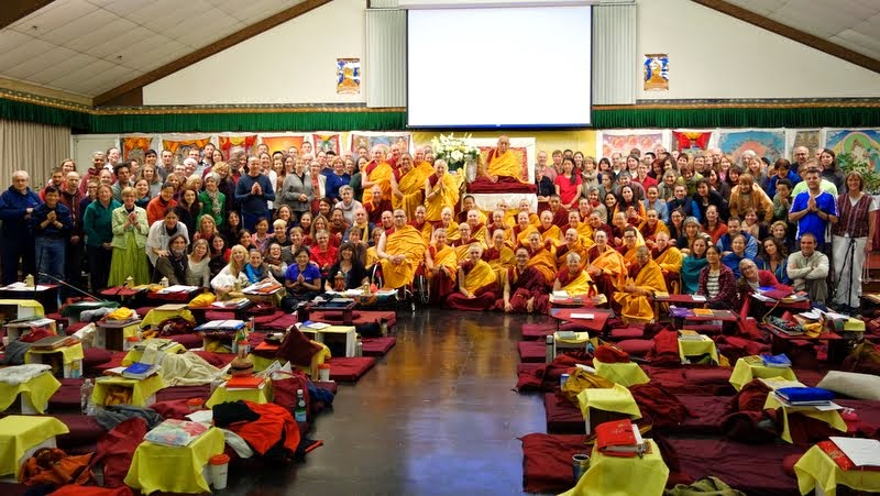 Light of the Path retreat, May 17, 2014. Photo by Ven. Roger Kunsang.