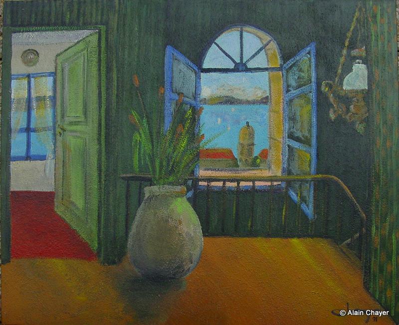 012 - L'appartement de Thérèse - 1991 92 x 73 - Acrylique sur toile