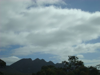 The Grampians in the distance