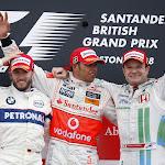 Podium British F1 GP 2008