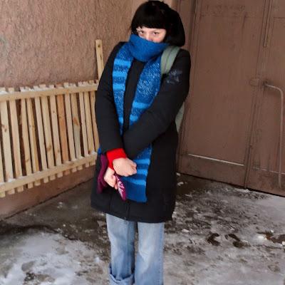 По снегу хотела пробежаться с осени. Хорошо, Студия вытащила на такой экстрим...