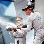 Nico Rosberg & Lewis Hamilton on the podium