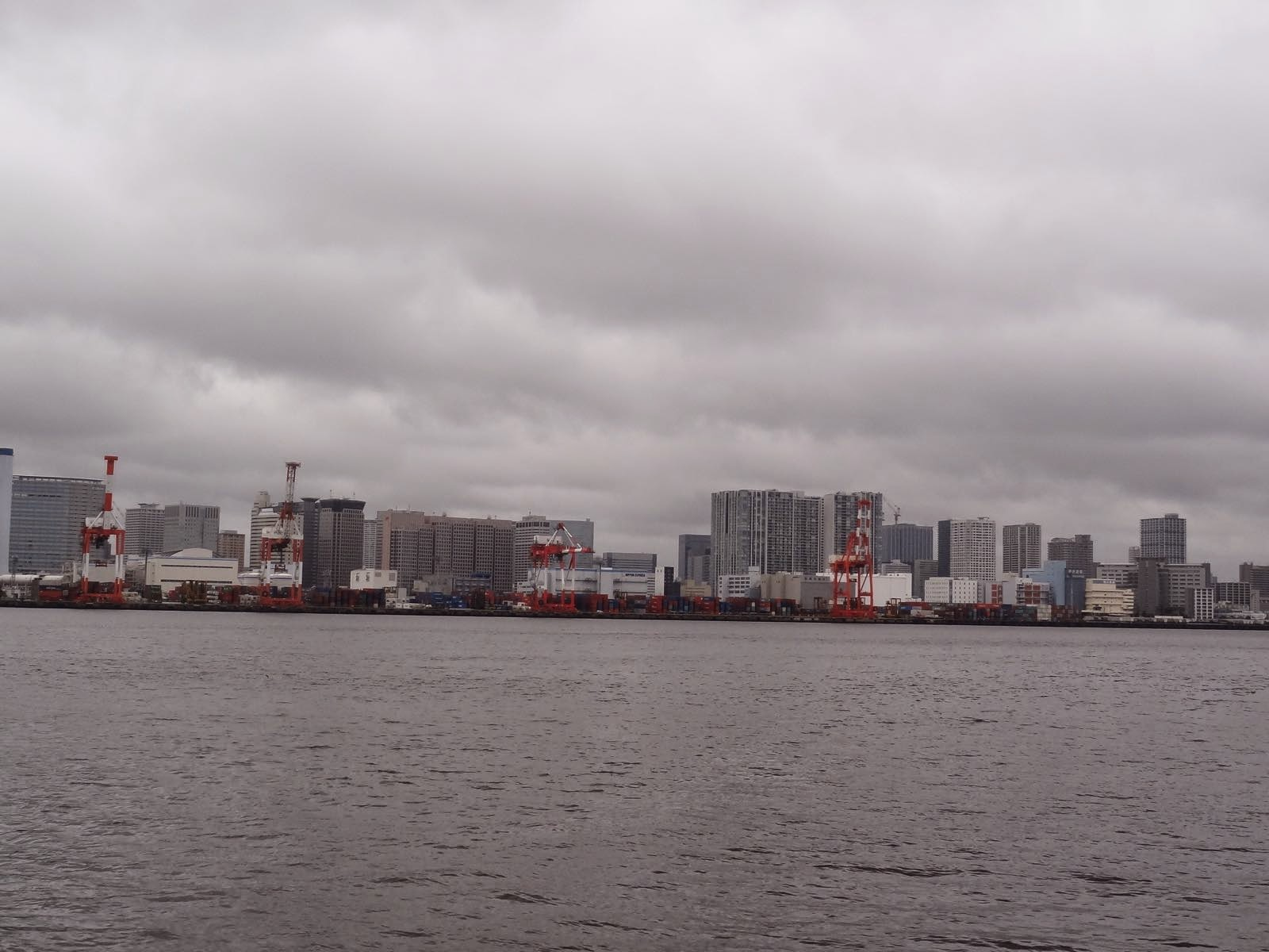 The main Tokyo container port