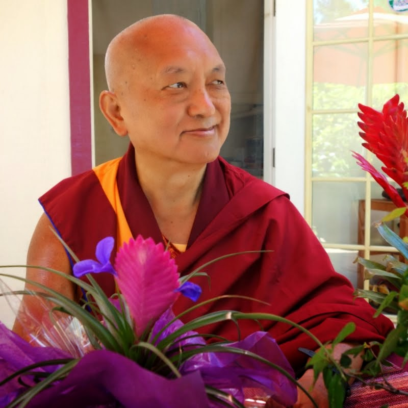 Lama Zopa Rinpoche at Kachoe Dechen Ling, Aptos, California, June 2014. Photo by Ven. Roger Kunsang.