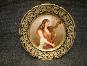 """""""Девушка с арфой"""" Вена ок. 1900 г. 24 см. 2500 евро."""