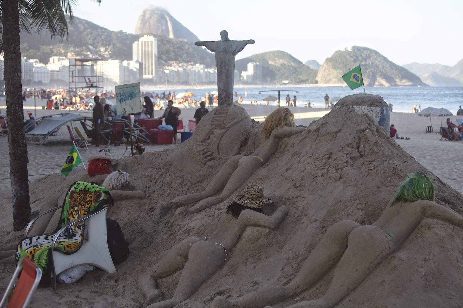 The best sand installation in Rio at the time :-)