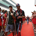 French F1 drivers Charles Pic & Jean Eric Vergne