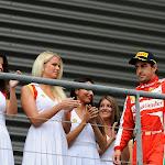 Fernando Alonso with grid grils