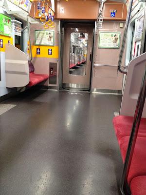 A very empty train!