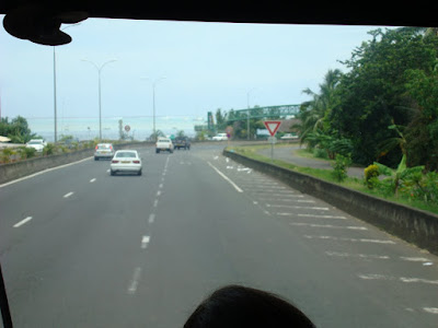 The highways were quite developed....3 lanes each way