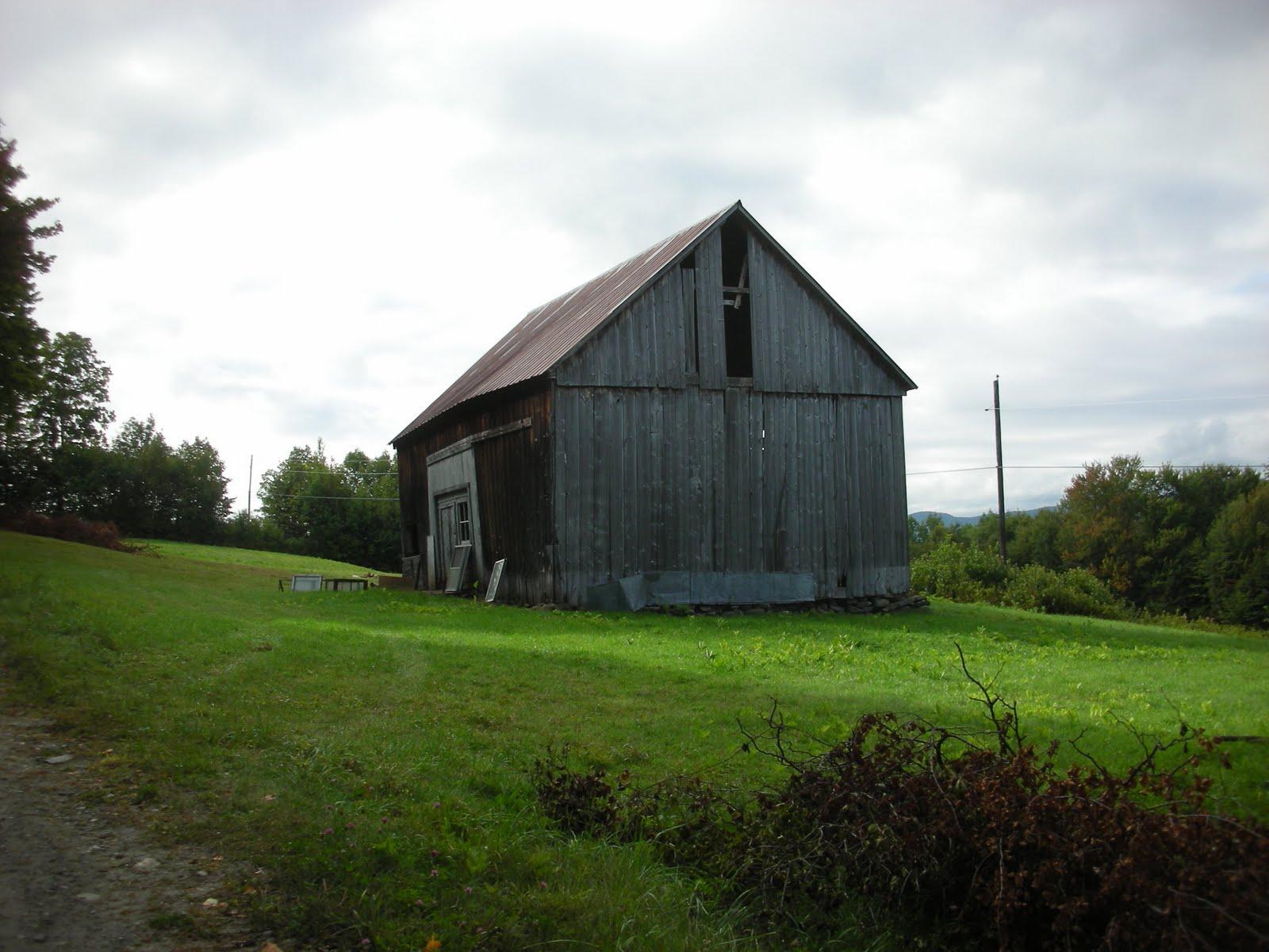 The Abbott barn prior to restoration.