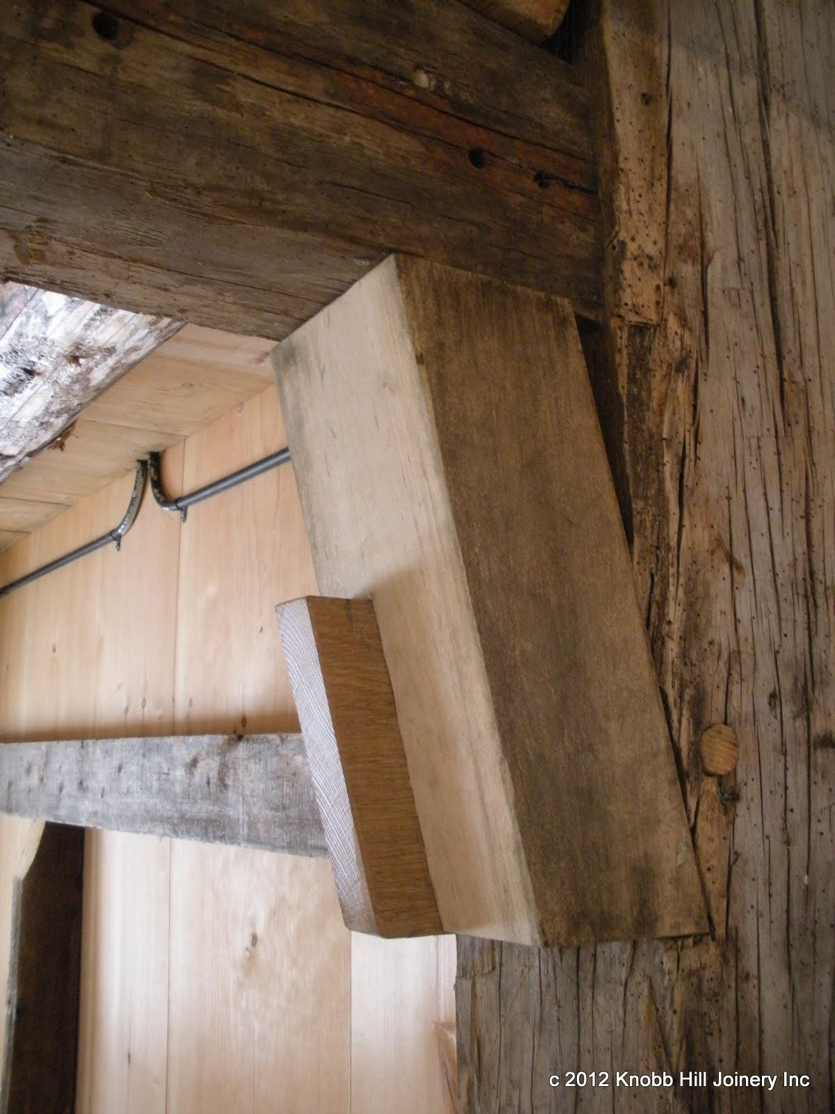 The diminished haunch of the original mortise provided great support and stability to the struts.
