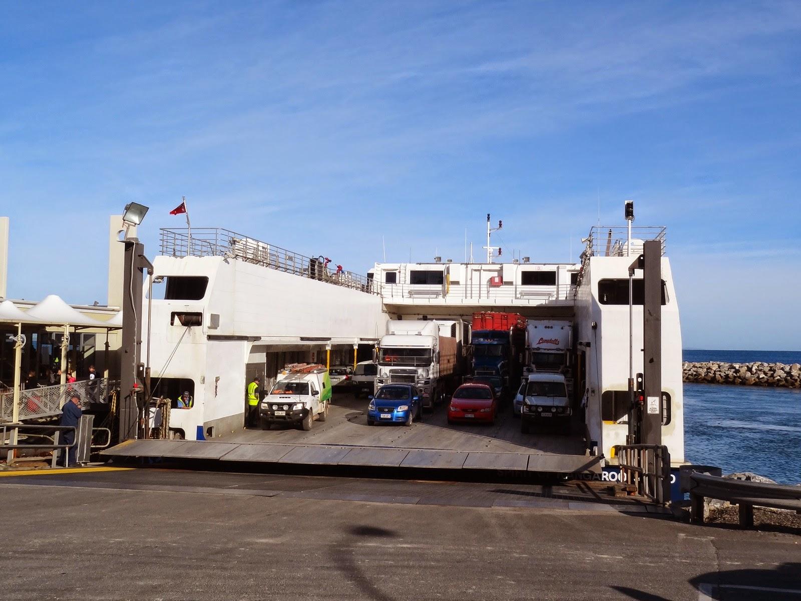 my ferry to Kangaroo Island
