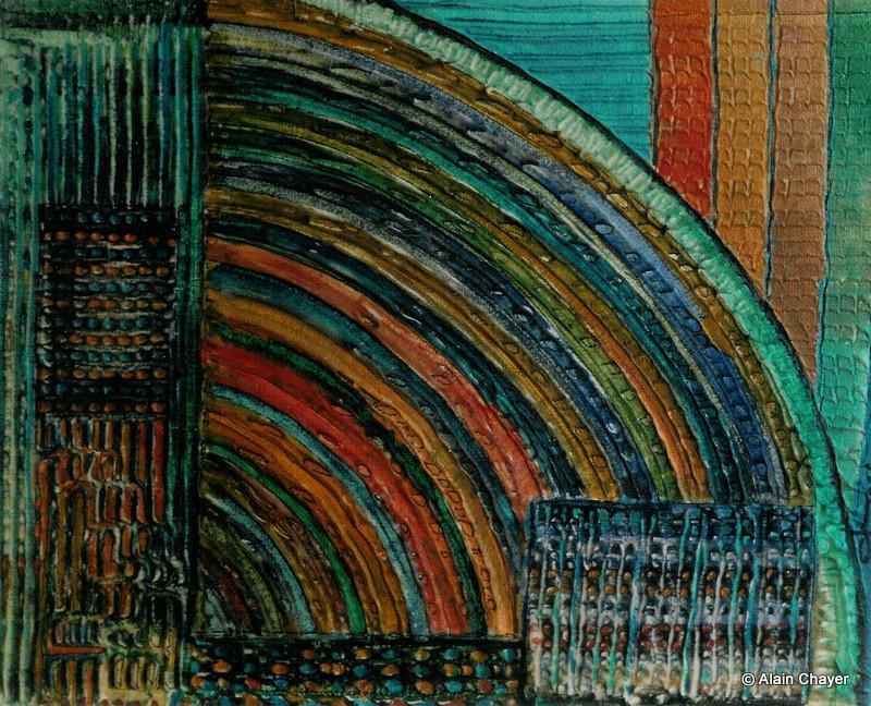 104 - Arc en Ciel - 2004 22 x 16 - Acrylique sur toile