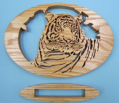 Sumatran Tiger Jacob Fowler August 2005 Issue of Creative Woodworks & Crafts Red Oak