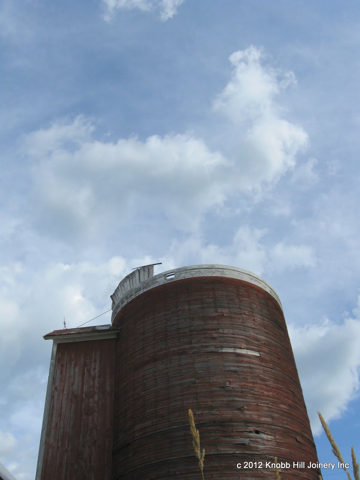 After years of neglect, the silo roof gave way...