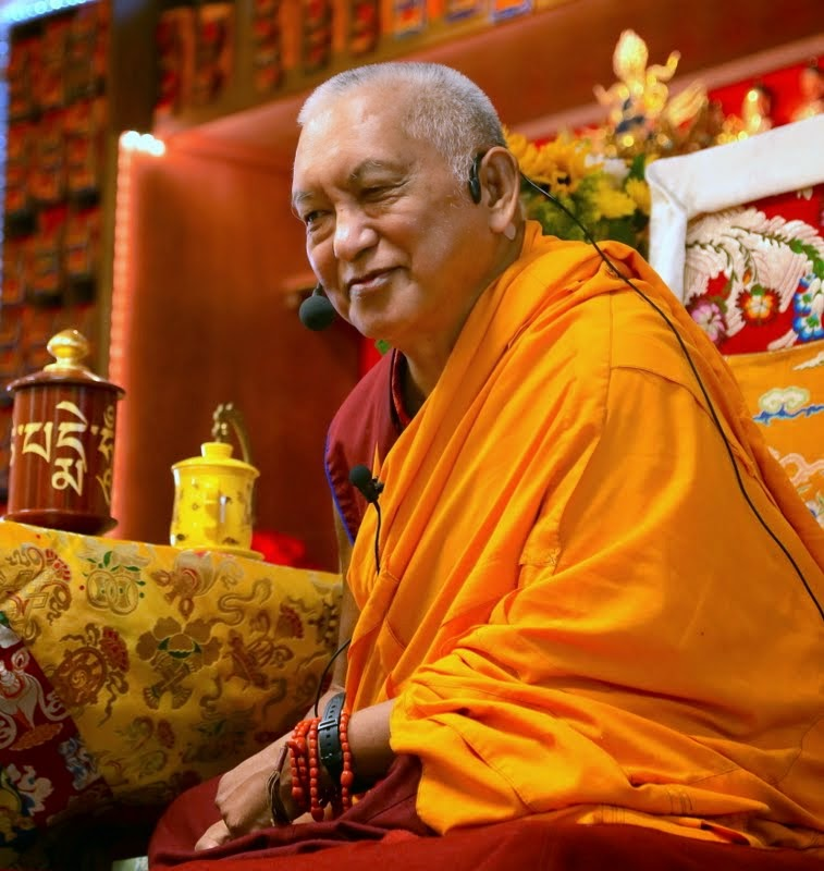 Lama Zopa Rinpoche at Kadampa Center, Raleigh, North Carolina, US, May 3, 2014. Photo by Ven. Thubten Kunsang.