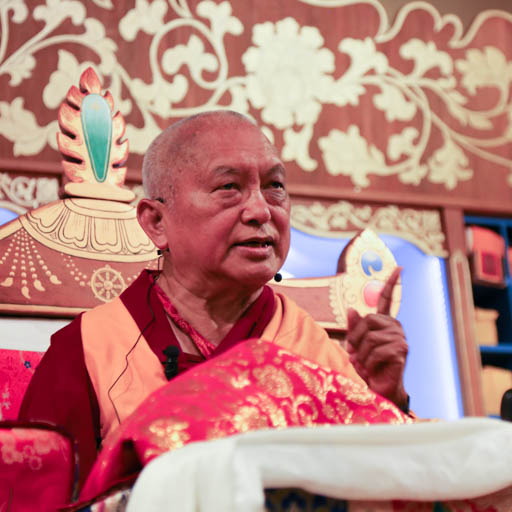 Lama Zopa Rinpoche at Mahamudra Centre, New Zealand, May 2015. Photo by Ven. Thubten Kunsang.