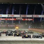 Start of 2013 Singpore F1 GP