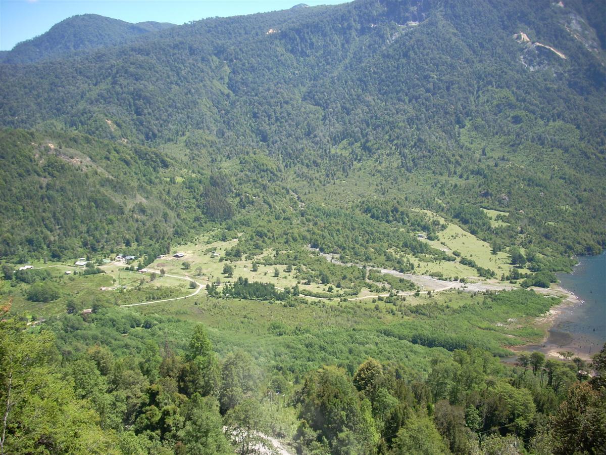 Looking down to my destination, Eco Termas Pellaifa