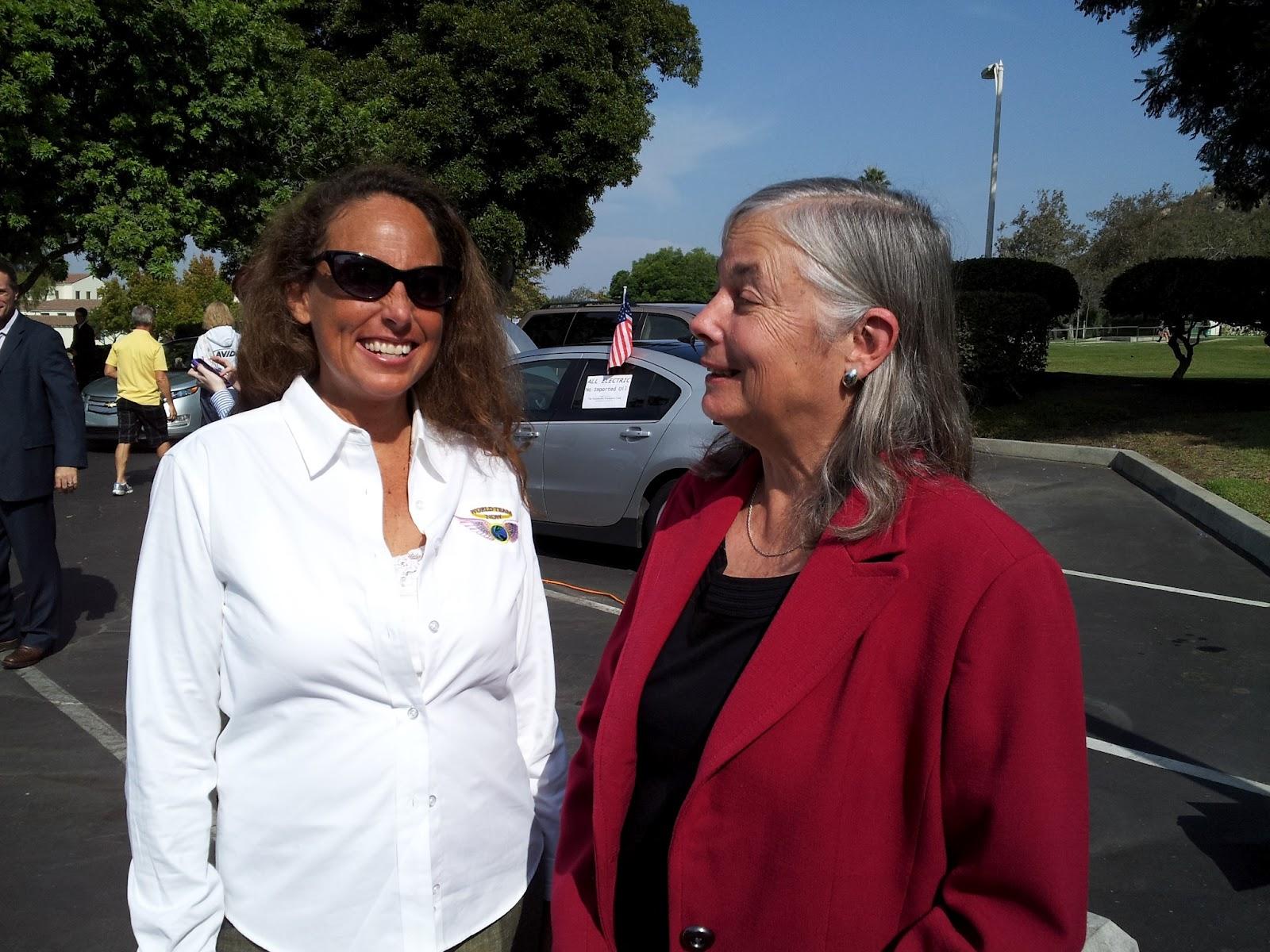 Suzanne Maxx and State Senator Fran Pavley