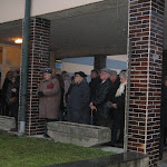 Az adventi gyertyagyújtás résztvevői Bodrogszerdahelyen