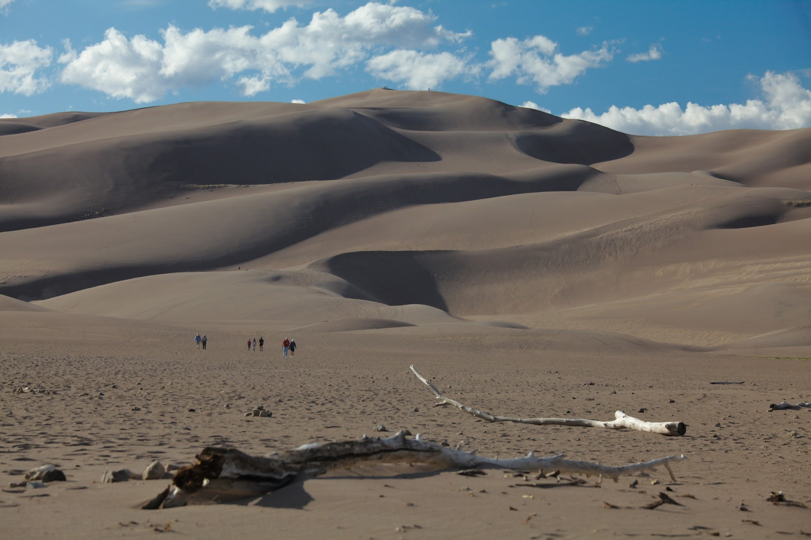 Our destination is Star Dune, a couple km from here, 228m high from the valley floor, which is itself at elevation of 2300m