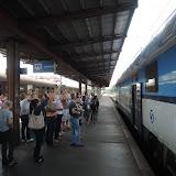 Sobota 28. 6. 2014 - cesta do Amazonie začíná! Nejprve odjížídíme vlakem směr letiště.