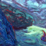 Scenic Picnic (detail); oil on canvas; 1996