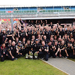 Red Bull victory celebration after 2 podium in the UK