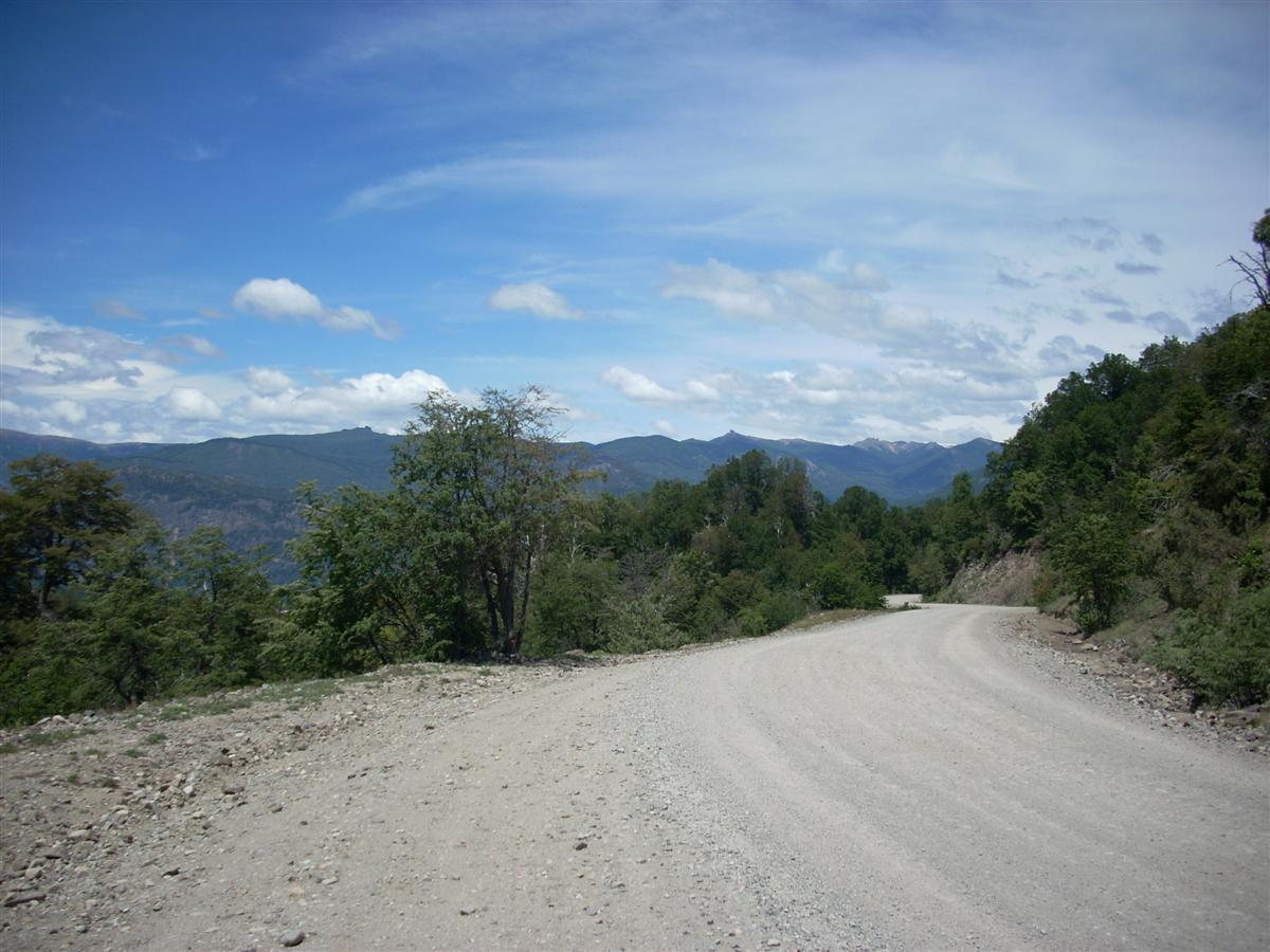 At the top of the climb, along the north of Lago Lacar