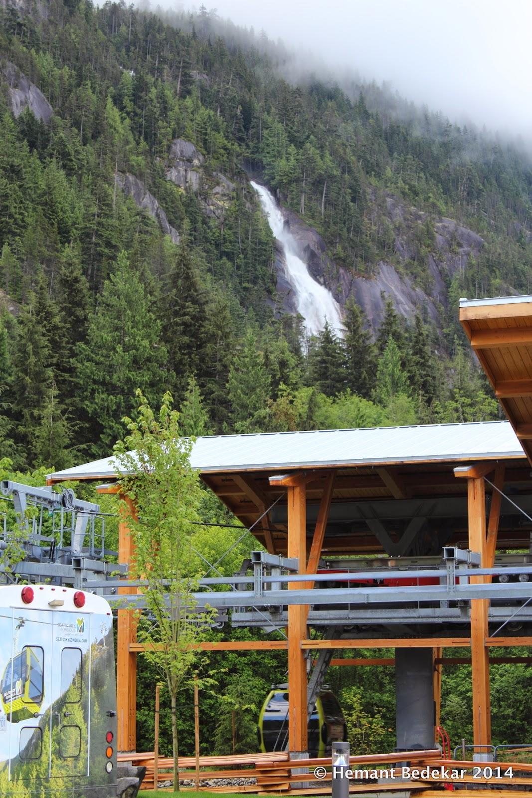 Shannon Falls in Squamish