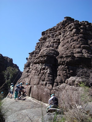 "On the walk to the Pinnacles is the ""Grand Canyon"". Some school children were on camp"