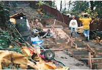 1996 - Building Uphill Stairway to Niet Ban shrine 3