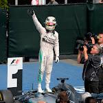 Lewis Hamilton wins