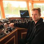 Sergei, the real captain of the Koidula ferry