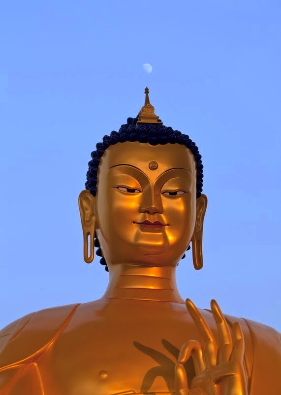 A photo of a life-sized replica of the Maitreya Buddha statue to be built in Kushinagar, India, December 12, 2013. Photo by Andy Melnic.