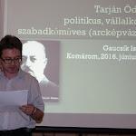Gaucsík József Tarján Ödönről és a szabadkőművességről tartott előadást