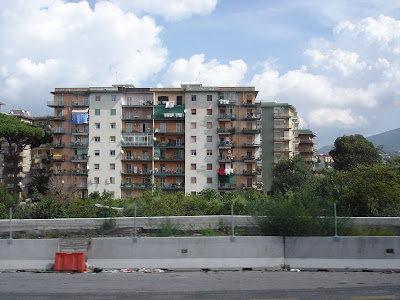 All the apartment blocks in this area looked like this. Not very attractive