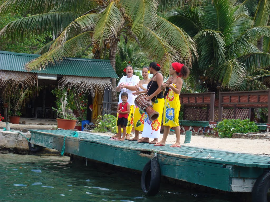 The welcoming party at the Pearl Farm