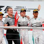 2014 German F1 Podium: 1. Nico Rosberg 2. Valterri Bottas 3. Lewis Hamilton