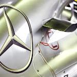 Mercedes Logo on Hamilton's W04