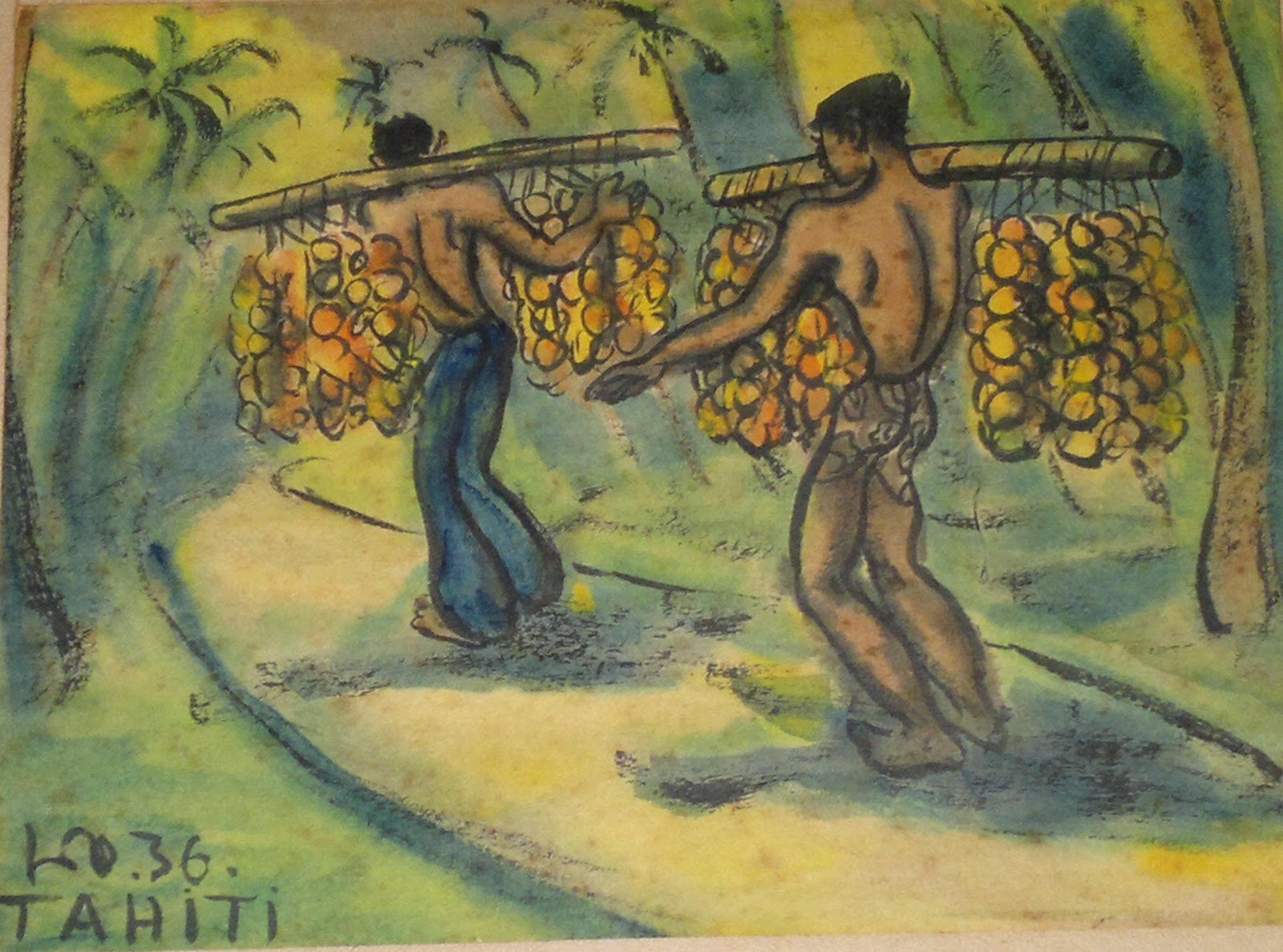 Men bearing fruits, 1936