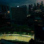 Lewis Hamilton, McLaren MP4-26 with Singapore Skyline