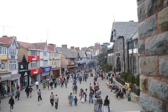 Another view of Mall road Shimla