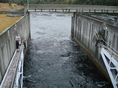 The control gates on Lake Te Anau