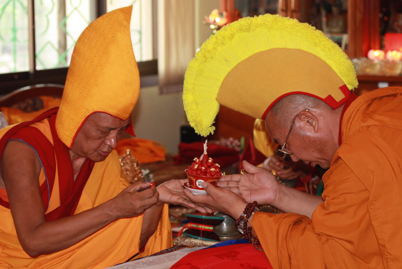 Special long life puja offered to Lama Zopa Rinpoche, Kopan Monastery, June 2008.